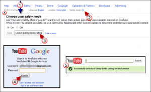 enable lock youtube safety mode b 300x182 How to Enable and Lock YouTube Safety Mode